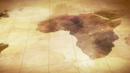 grunge stained map of the world loopable background