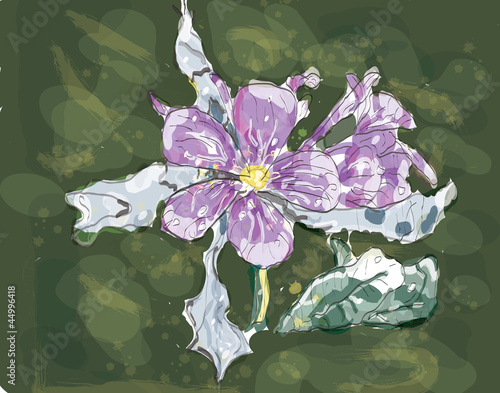 Jasmin flower watercolor, eps 10