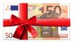 50 Euro Schein mit roter Schleife