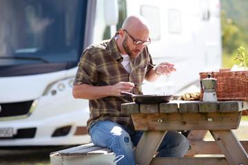 Essen am Campingplatz