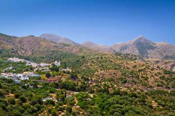 Lasithi mountains on the east of Crete, Greece
