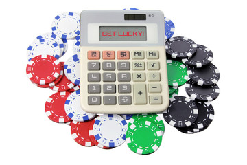 Calculator and Poker Chips
