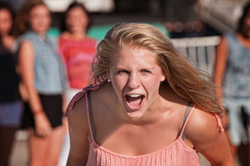 Screaming Teenage Girl
