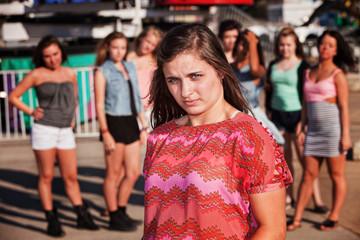 Skeptical Teenage Girl at Carnival