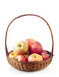 Wicker basket full of apples