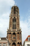 The Dom tower of 112 meters high in Utrecht.Netherlands