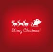 Weihnachtskarte Weihnachtsmann rentiere