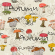 Seamless texture with autumn pattern