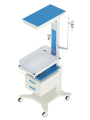 Neonatal reanimation and warming table