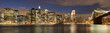 Evening´s skyline of Manhattan from Brooklyn side, New York, USA