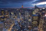 Fototapety Evening view of New York city, USA