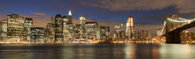 Fotomurales - Evening´s skyline of Manhattan from Brooklyn side, New York, USA