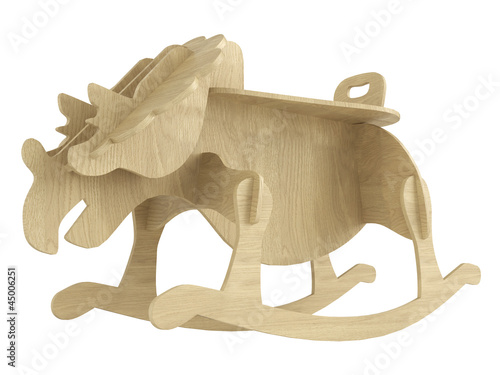 Stylised wooden rocking horse