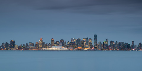 Vancouver´s skyline in the evening,Vancouver, Canada