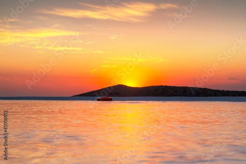 Sunrise at Mirabello Bay on Crete, Greece