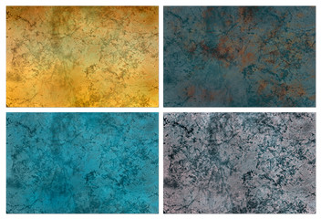 Set of marble slab surface texture to background