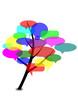 Logo Baum mit Sprechblasen
