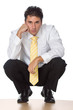 Business Man - Sitting and Thinking 2