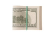 side view of us dollars currency