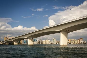 Modern Bridge to Downtown Sarasota