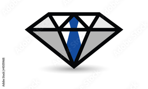 Concept diamant cravate