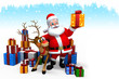 santa with yellow color gift box