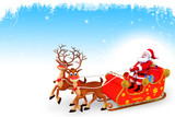 santa and sleigh on iceland