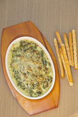 Rich and creamy hot spinach dip