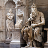 Moses by Michelangelo in San Pietro in Vincoli, Rome, Italy poster