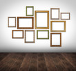 Interior picture frames on wall