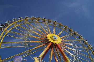 Riesenrad, Bayern , Oktoberfest, München, Fahrgeschäft
