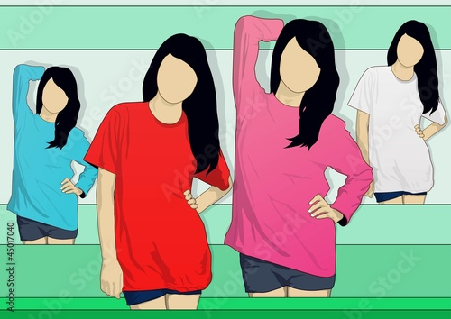 Model T-shirt woman