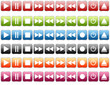 Set of colorful media icons