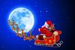 santa and his sleigh going towards sleigh