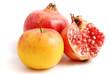 granatapfel und apfel