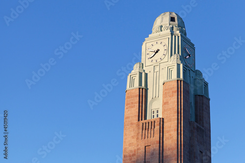 Clock tower of Helsinki railway station.