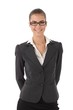 Confident businesswoman with glasses