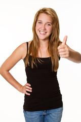 teenager schaut positiv in die zukunft