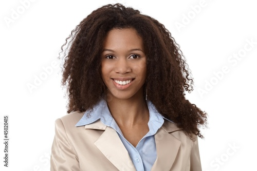 Closeup portrait of beautiful businesswoman