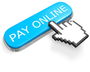 Button PAY ONLINE and hand cursor