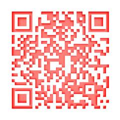 Monochromatic red QR code 1