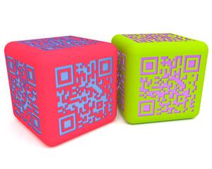Colorful QR cubes 1