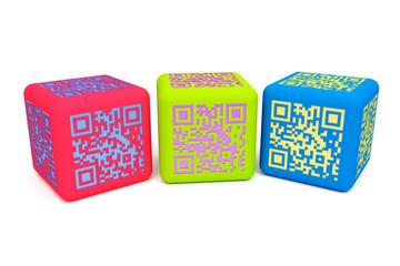 Colorful QR cubes 2