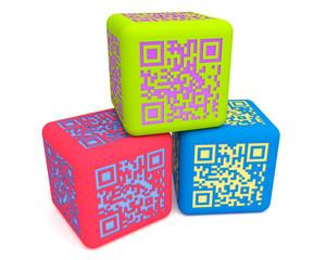 Colorful QR cubes 3