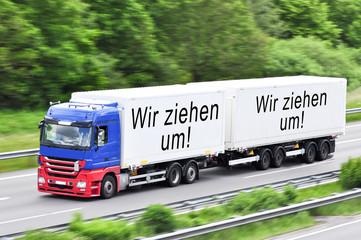 Wir ziehen um LKW