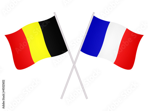 Drapeaux de l alliance franco belge photo libre de - Comptoire d electricite franco belge ...