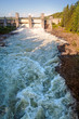 canvas print picture - Spillway on hydroelectric power station in Imatra, Finland