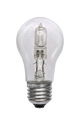 Halogen bulb. Isolated image