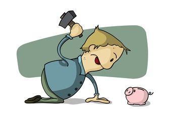 Credit Crunch - Raiding the Piggy Bank