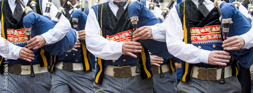breton bagpipe in panoramic